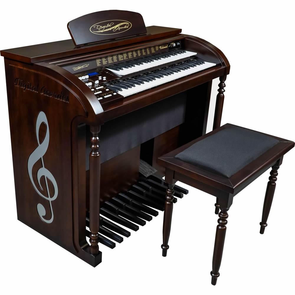 Órgão DIGITAL ACORDES Colonial Fosco AC500 TABACO