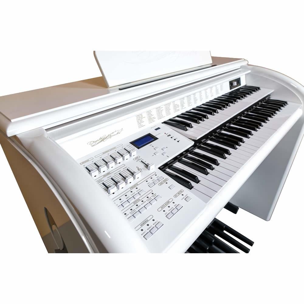 Órgão DIGITAL ACORDES TOP Elegance Alto Brilho AC500 BRANCO