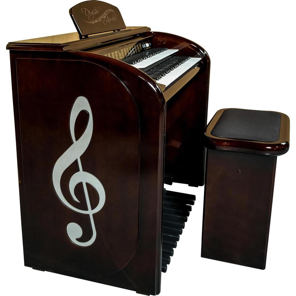 Órgão DIGITAL ACORDES TOP Elegance Alto Brilho AC500 IMBUIA
