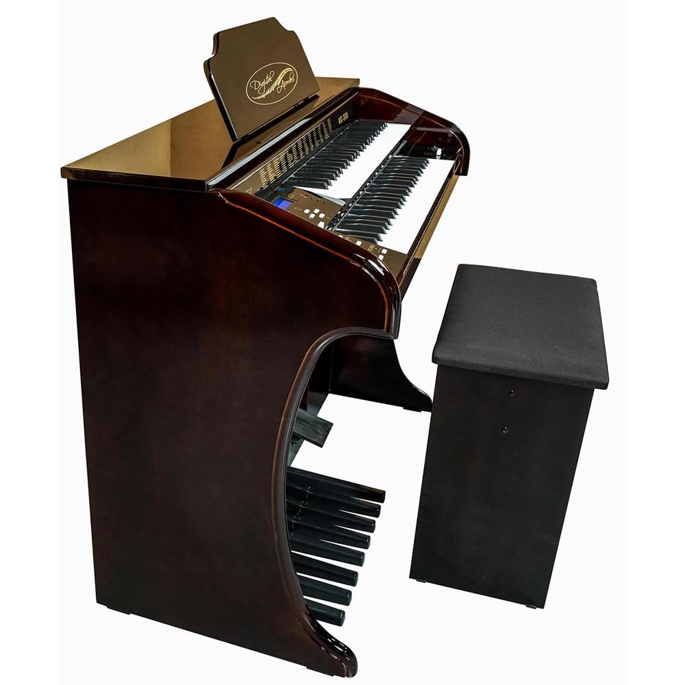 Órgão DIGITAL ACORDES Tradicional Alto Brilho AC300 IMBUIA