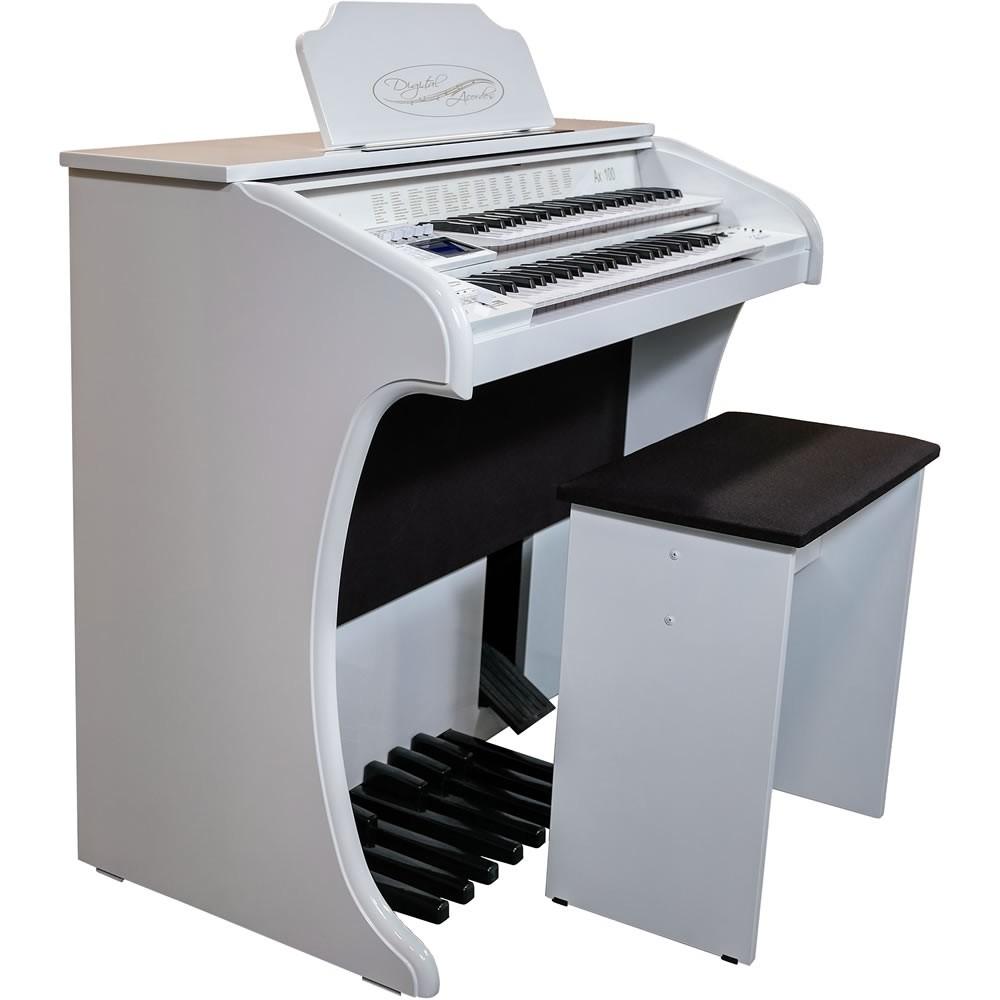 Órgão DIGITAL ACORDES Tradicional Alto Brilho AX100 BRANCO