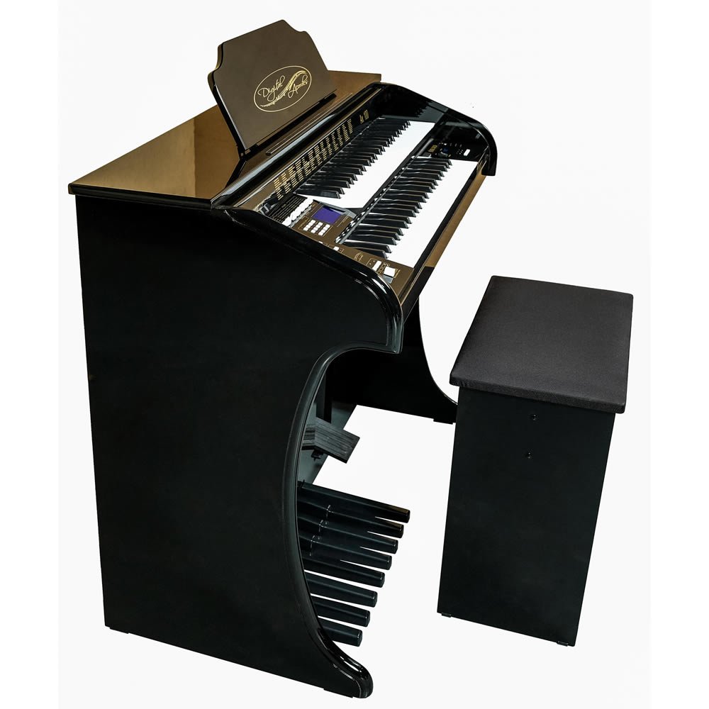 Órgão DIGITAL ACORDES Tradicional Alto Brilho AX100 IMBUIA