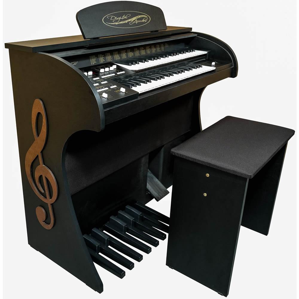 Órgão DIGITAL ACORDES Tradicional Fosco 2D PRETO Clave