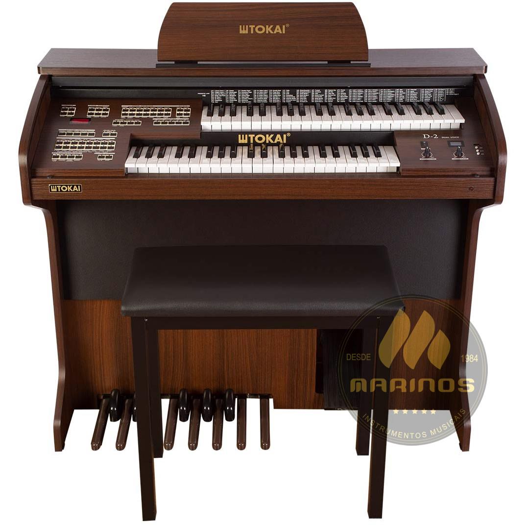 Órgão TOKAI Eletrônico Digital D2 Dual Voice com Tampa