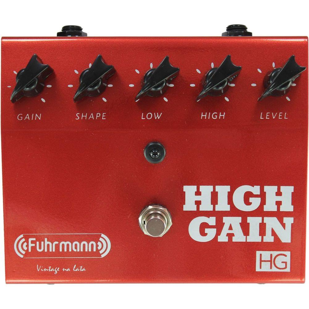 Pedal Fuhrmann Guitarra Crunch Ganho HG01 High Gain