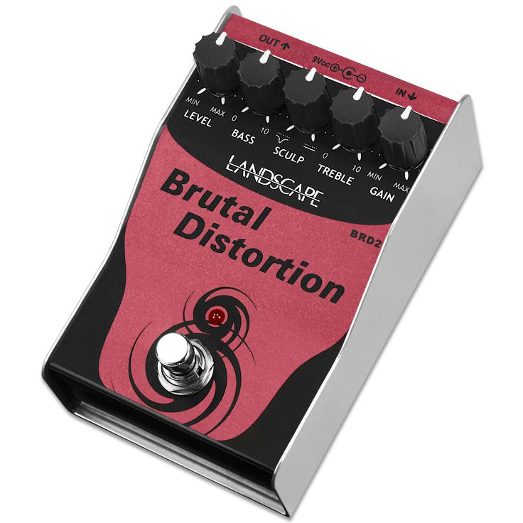 Pedal LANDSCAPE Guitarra Brutal Distortion BRD2