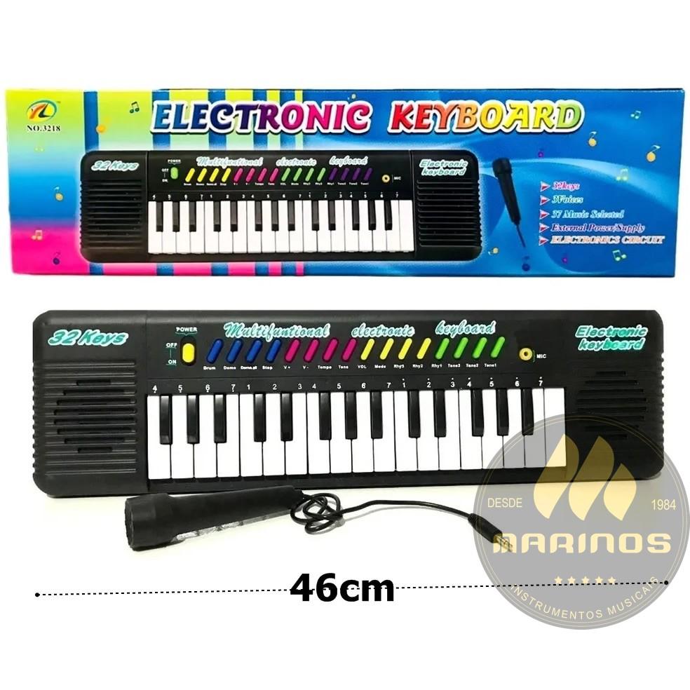 Piano Teclado Infantil Sons Eletrônico 32 Teclas Preto