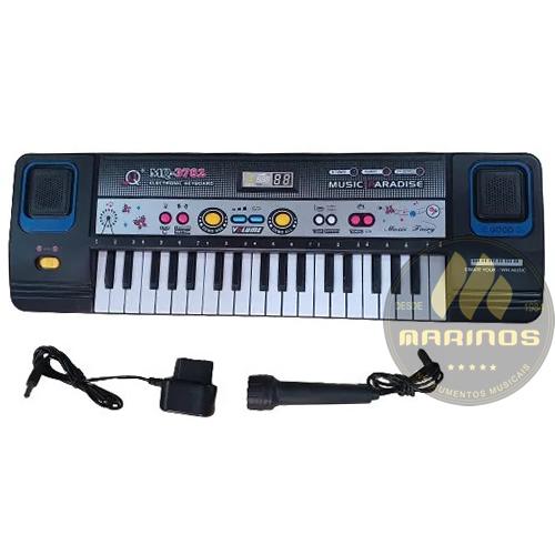 Piano Teclado Infantil Sons Eletrônico 37 Teclas Preto
