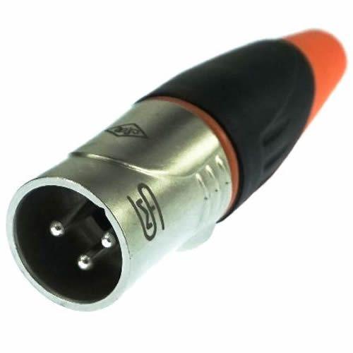 Plug SMART PRO XLR Macho IP67 SVP555X WP Laranja