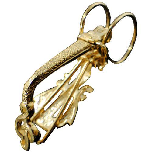 Prendedor Clipet Fixo Dourado (Par)