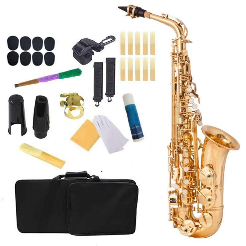 Saxofone Alto BECKER Laqueado MIb Eb com Acessórios