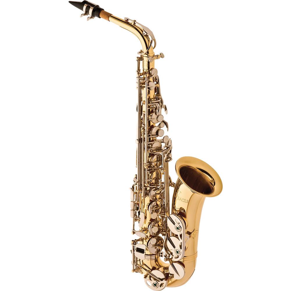 Saxofone Alto EAGLE Mib SA500 LN Laqueado Niquelado