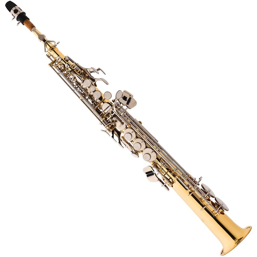 Saxofone Soprano EAGLE Sib SP502 LN Laqueado Niqueladas