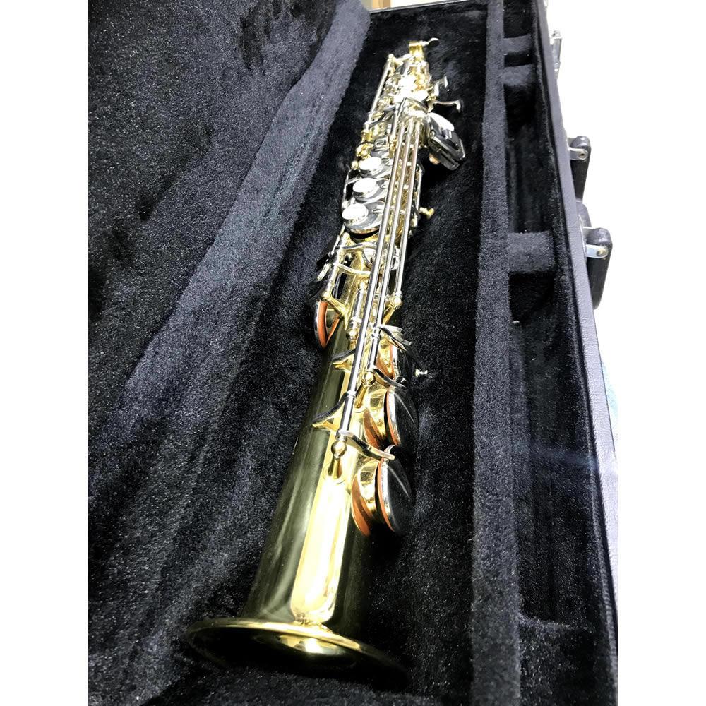 Saxofone Soprano EAGLE Sib SP502 LN Laqueado Niqueladas (SEMI-NOVO)