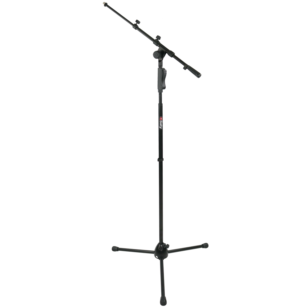 Suporte SATY Microfone GIRAFA Pé com Trava PMG100