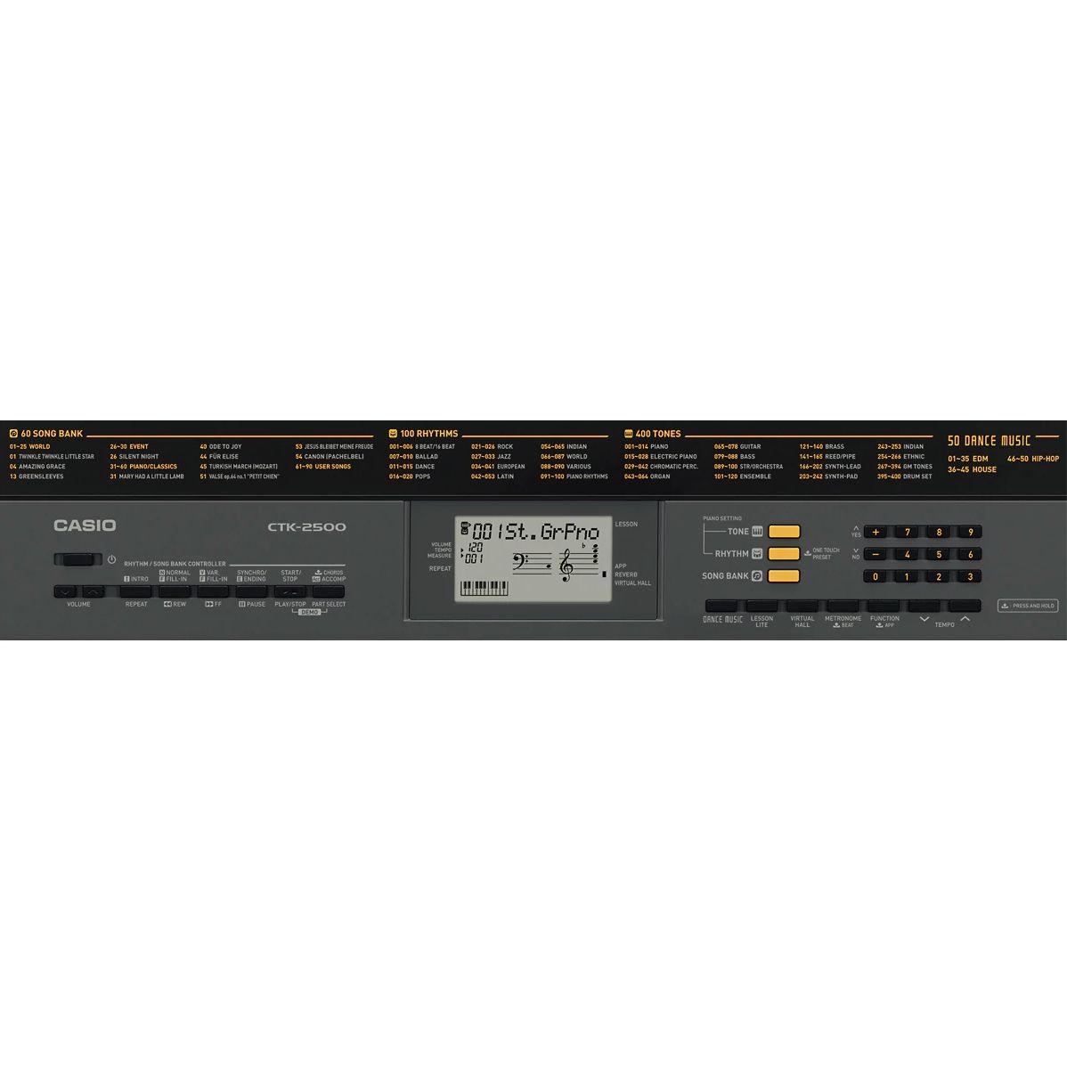 Teclado CASIO Arranjador 61 Teclas CTK-2500