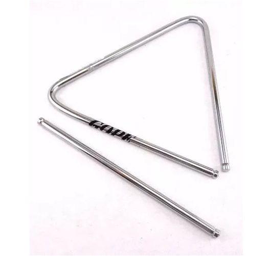"""Triângulo GOPE Aço Cromado 12"""" X 30 cm 828"""