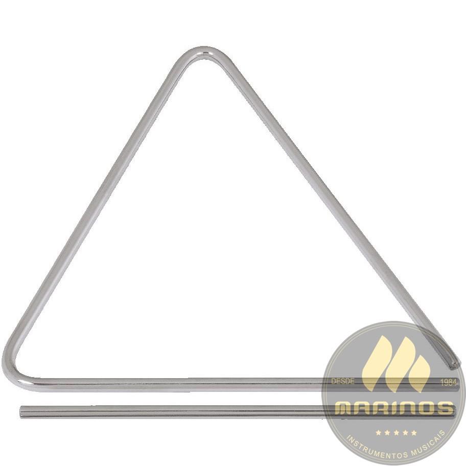 "Triangulo GOPE Aço Cromado 8"" X 20 cm LIGA SONORA 826"