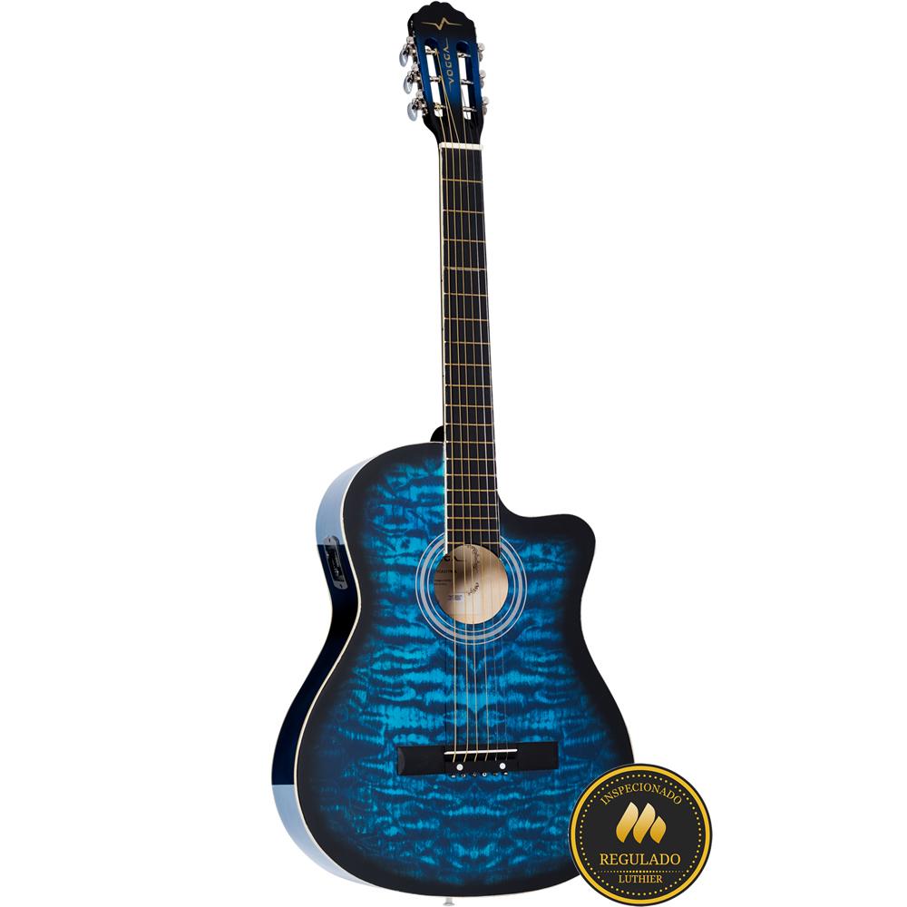 Violão VOGGA Aço Elétrico COLOR VCE217NC BL Azul