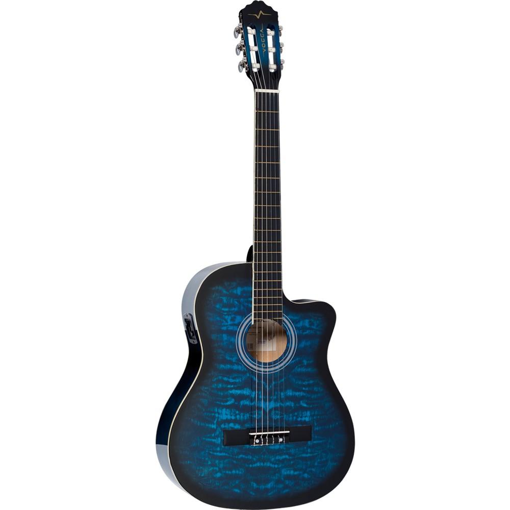 Violão VOGGA Náilon Elétrico VCE227NC BL Azul