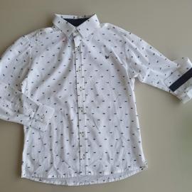 Camisa manga comprida branca Um mais Um