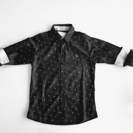 Camisa manga comprida preta Um mais Um