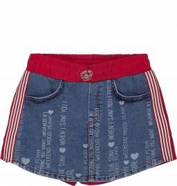 Shorts Saia Lettering Animê