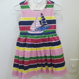 Vestido colorido barco Luluzinha