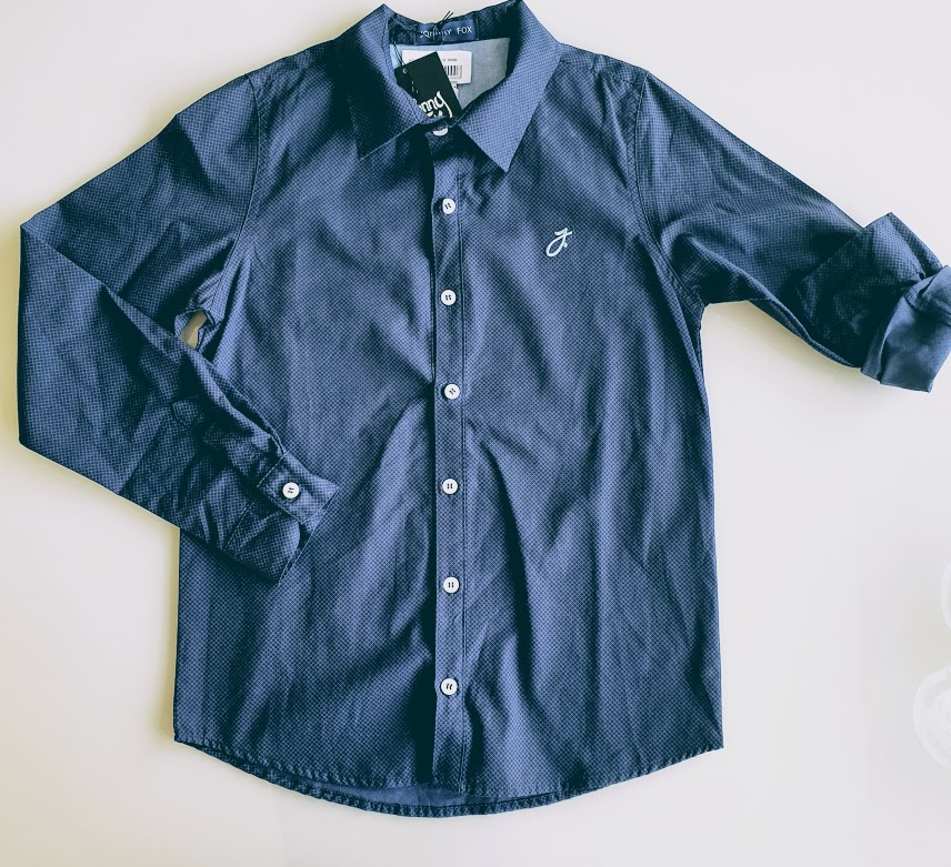 Camisa manga longa azul marinho Johnny Fox