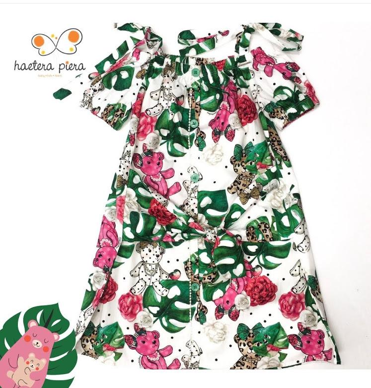 Vestido floral Pituchinhus