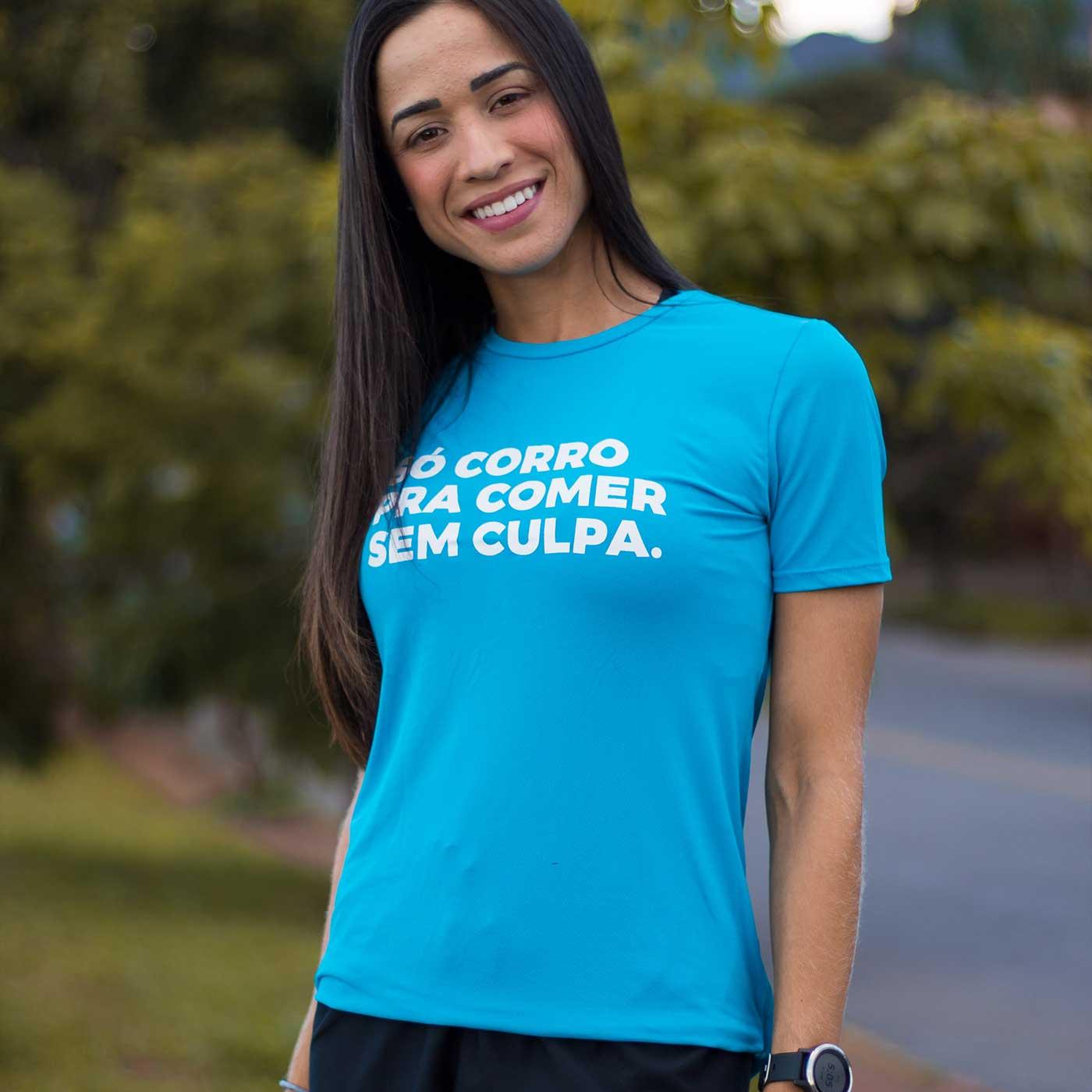 Camiseta Feminina Longão - Comer Sem Culpa