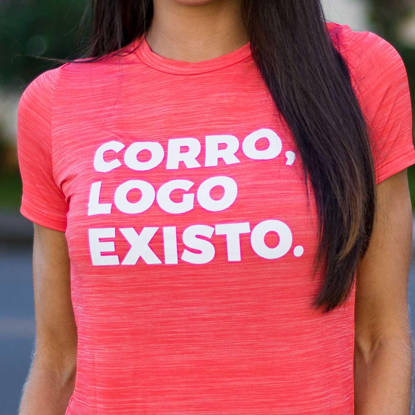 Camiseta Feminina Longão - Corro Logo Existo