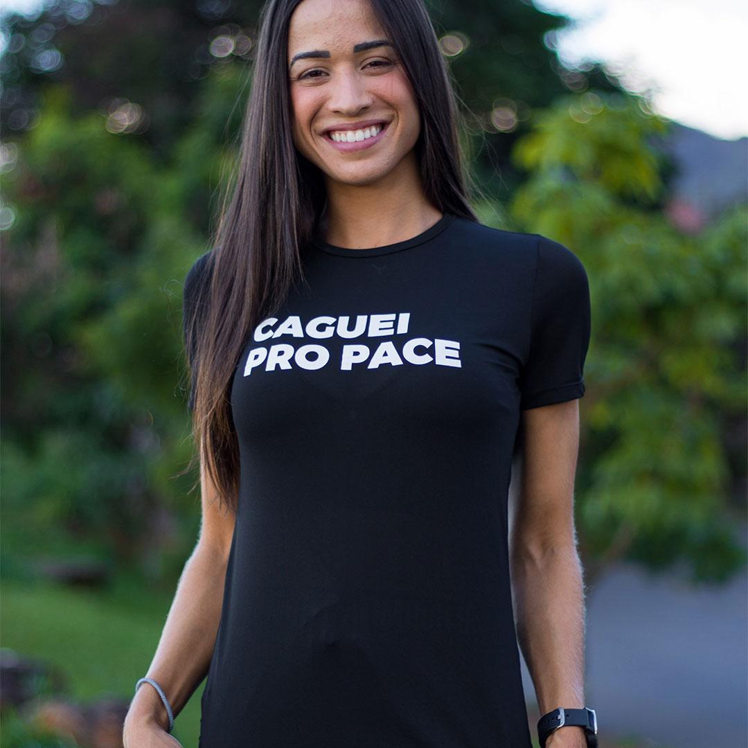 Camiseta Feminina Longão - Caguei pro Pace