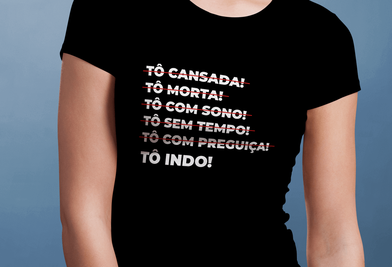 Camiseta Feminina Longão - Tô Indo