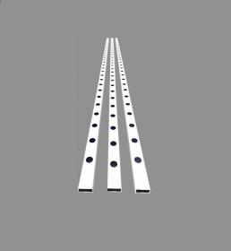PERFIL 80X40MM ALFACE  BARRA 4M - HORTIBRAS