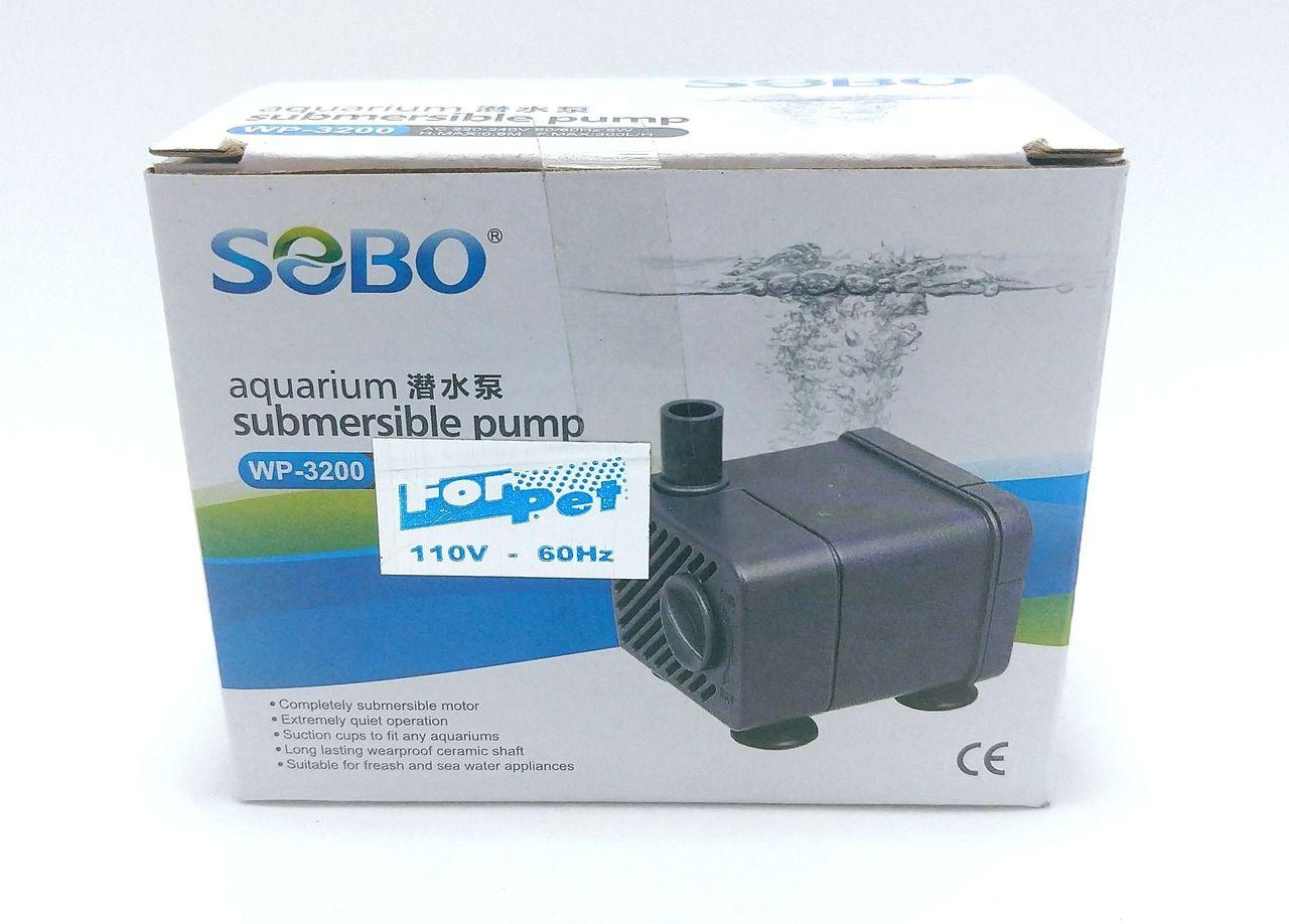 BOMBA SUBMERSA WP3200 110V 300 L/H 0,60 M.C.A - SOBO