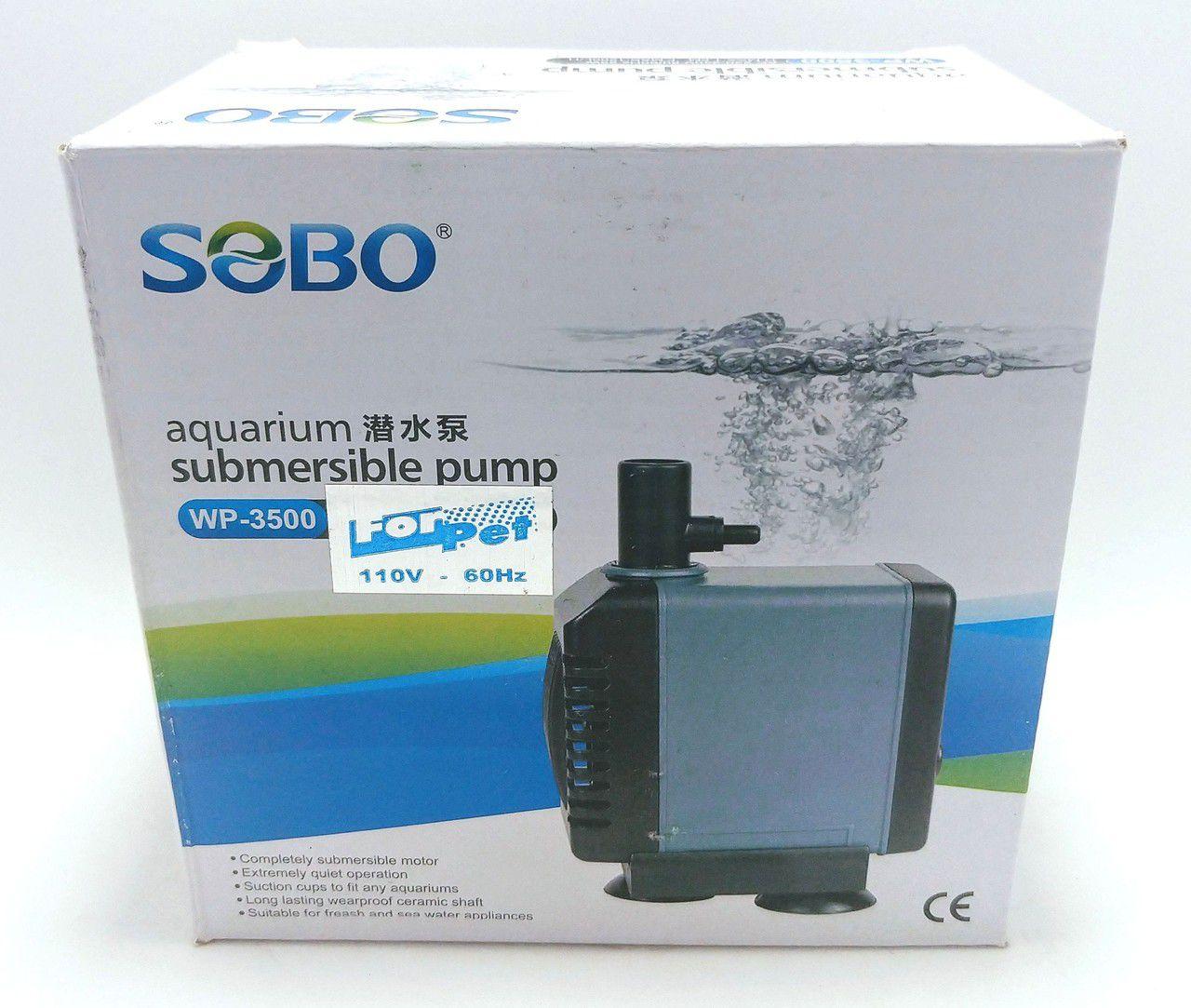 BOMBA SUBMERSA WP3500 110V 1.200 L/H 1,50 M.C.A - SOBO