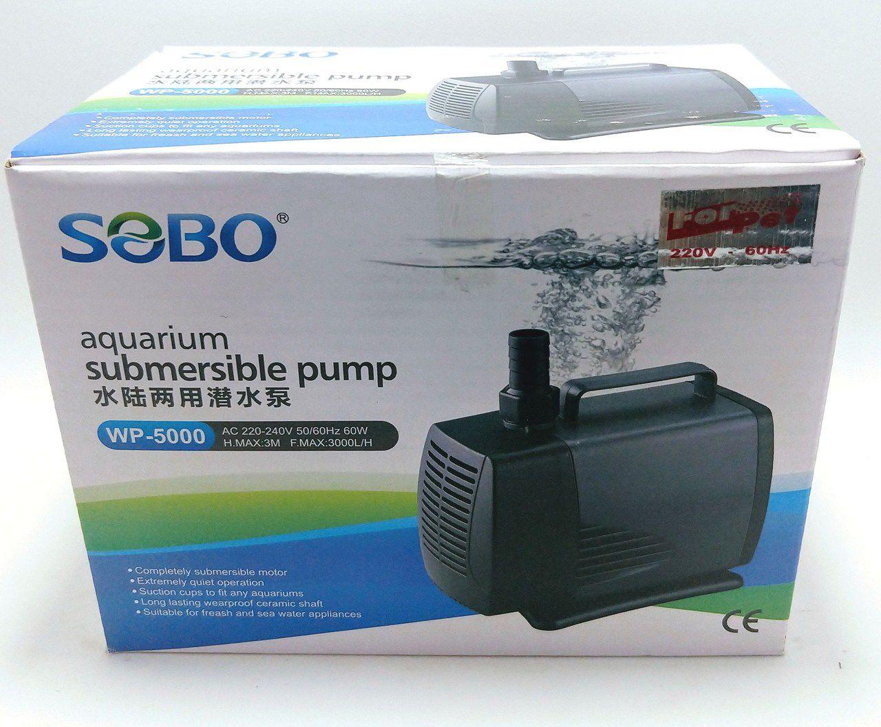 BOMBA SUBMERSA WP5000 220V 3.000 L/H 3,00 M.C.A - SOBO