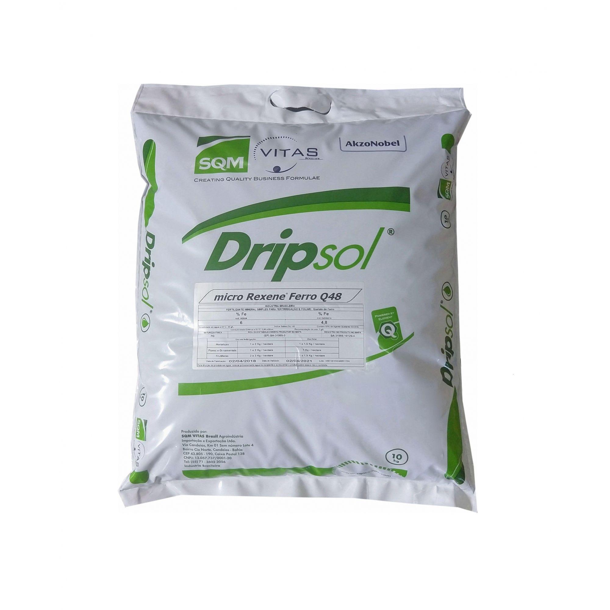 DRIPSOL Q48 FERRO 6%  SC 10KG - SQM