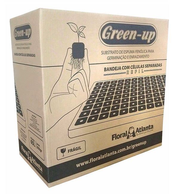 REFIL GREEN-UP RUCULA 2,0X2,0X2,0CM 200 CELULAS - 27UND