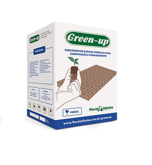 SUBSTRATO GREEN-UP ESPUMA FLORESTAL PARA CLONAGEM 19X27X3