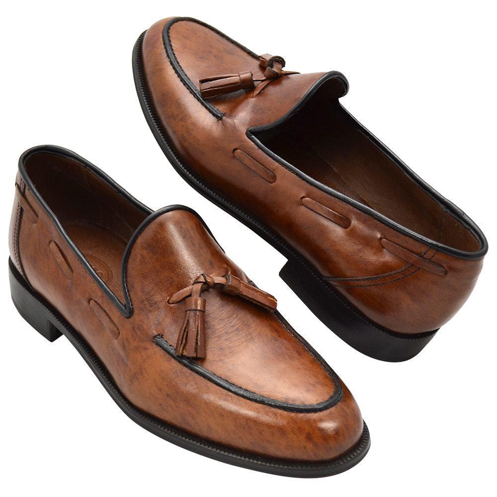 Sapato Masculino Tassel Loafer cor Havana Claro 019BITA