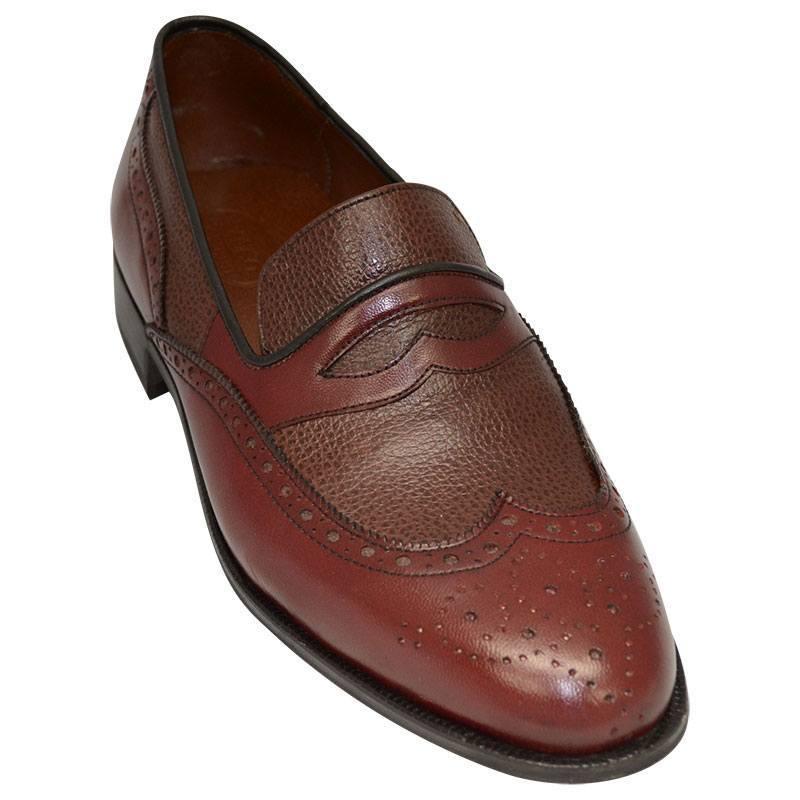 Sapato Masculino Mocassim Brogue cor Vinho 020VIN