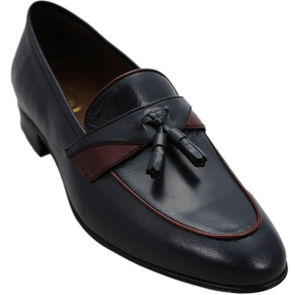 Sapato Masculino cor Azul Marinho Criação Pacco 048AZU