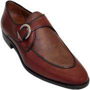Sapato Masculino em Pelica com  couro Granulado 808VIN