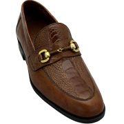 Sapato Masculino com Canela de Avestruz 601BDITA
