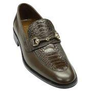 Sapato Masculino com Canela de Avestruz cor Marrom Café 601BDMAR