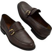 Sapato Masculino Mocassim cor Marrom estilo Italiano 221NMAR