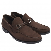 Sapato Masculino Loafer Horsebit em Camurça 111BDCAMCAF Luigi