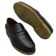 Sapato Masculino Mocassim Solado em Crepe Natural 099ATHOSPRE